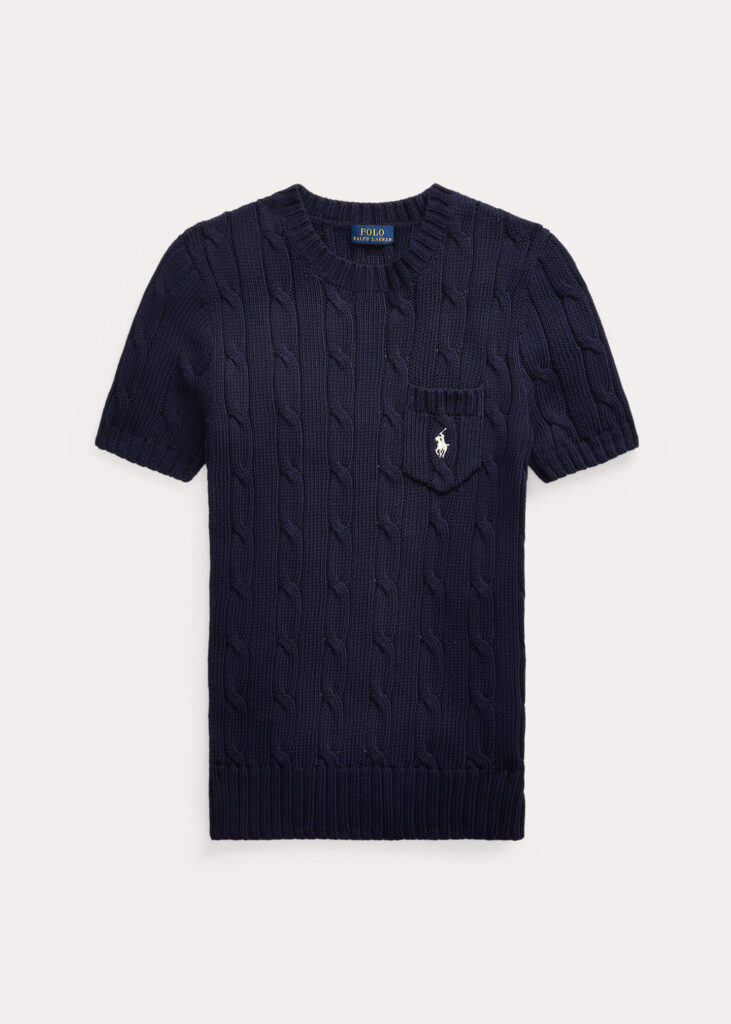 ralph lauren knitted stickad tshirt